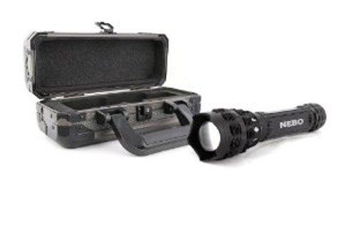 ebo O2 Beam 420 Lumen Optimized Optics LED with 4 AA Alkaline Batteries. 5 Lighting Modes. Zoom Adjustable Beam. (Black)