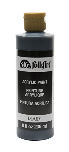 FolkArt Acrylic Paint in Assorted Colors (8 oz), K989, - Matte Licorice