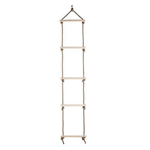 COMINGFIT Sturdy Indoor/Outdoor Rope Climbing Ladder for Kids