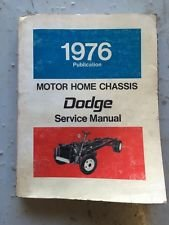 1976-1977 Dodge Motor Home Chassis Repair Shop Manual Reprint M-300 M-400 M-500 M-600 ()