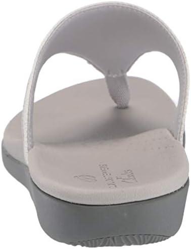 Clarks Women's Brio Vibe Sandal, White Snake Synthetic, 110 M US