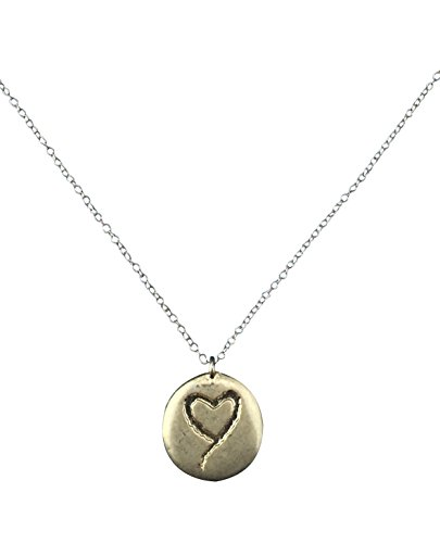 Have a Heart Necklace With Gold Tone; Double/Two Sided With Heart and Flower