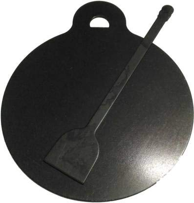 Jayam Traditional Iron Flat Dosa Chapati Tawa , 1.5KG with Dosa Turner 26 cm Diameter   Black