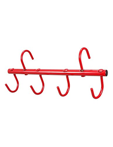 - Tough 1 4-Prong Portable Tack Rack, Red