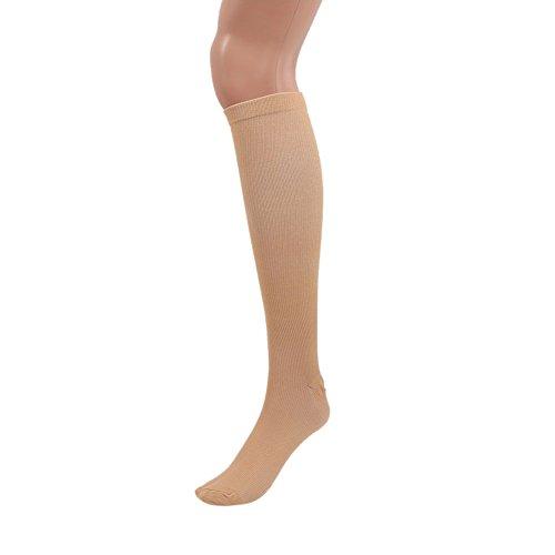 color compressione corsa Wongfon gamba sostegno sollievo calze varicose calza vene dolore Skin pqqw7R