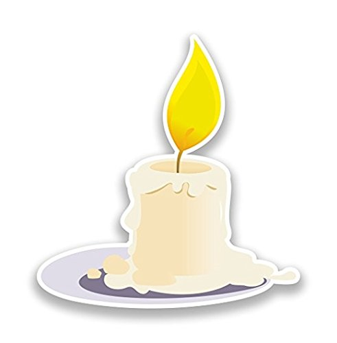 Candle Vinyl Stickers Halloween Decoration - Sticker Graphic