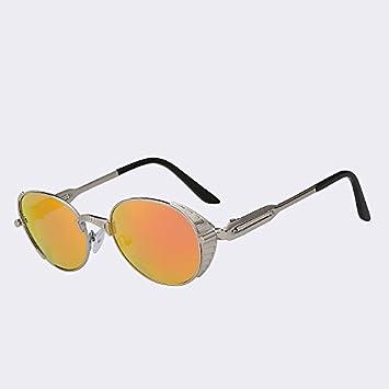 TIANLIANG04 Gafas de Sol de Marca Oval Estilo Punk del ...
