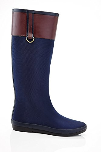 Henry Ferrera Womens Salute 100 Water-Resistant Stretch Fashion Rain Boots Navy oq5aD1PHX