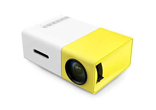 A1 LED LCD (QVGA) Mini Video Projector - International Version (No Warranty) - DIY Series - White/Yellow (FP3224A1WY-IV3)