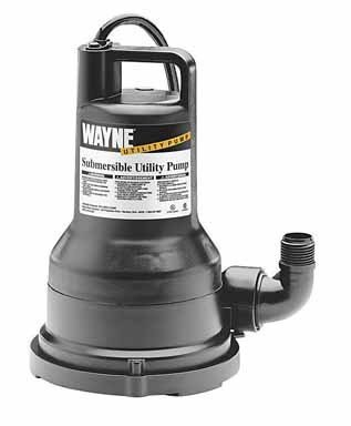 WAYNE VIP15 1/5 HP Thermoplastic Portable Electric Water Removal Pump