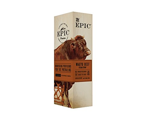 - Epic Snack Strips, Wagyu Beef Steak, 0.8 oz. (10 Count)