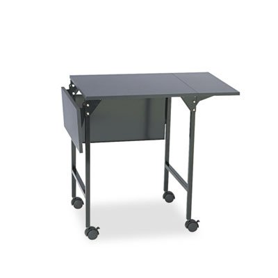 Mobile Machine Stand w/Drop Leaves, Two-Shelf, 36w x 18d x 26-3/4h, Black, Sold as 1 Each by Safco
