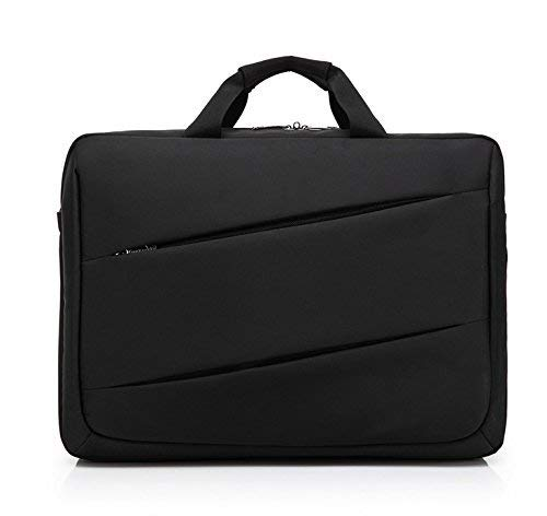 Black Briefcase Shoulder Messenger Bag Case for Alienware 17 R5 / Asus ROG Strix Scar II (GL704GM) / HP ZBook 17 G5 / Dell Precision 7730 17.3 Laptop (Black)
