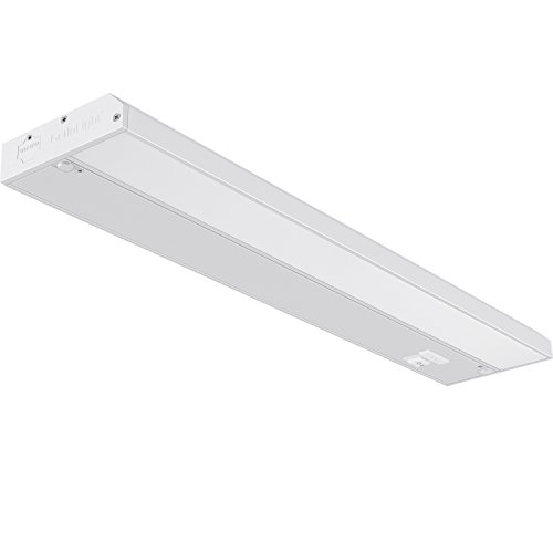GetInLight 3 Color Levels Dimmable LED Under Cabinet Lighting with ETL Listed, Warm White (2700K), Soft White (3000K), Bright White (4000K), White Finished, 18-inch, IN-0210-2 - 2 Light Under Cabinet Fixture