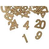24 Chiffres en bois pour calendrier de l'Avent - Rouge