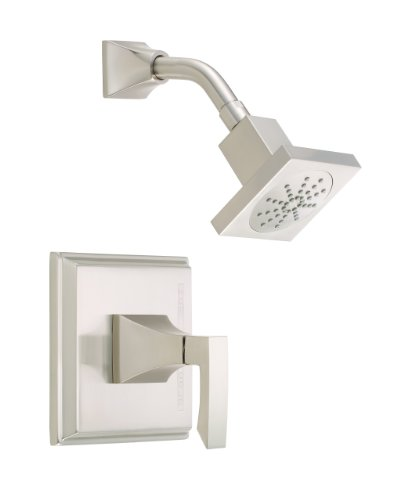 (Danze D500536BNT Logan Square Single Handle Shower Trim Kit, Brushed Nickel)