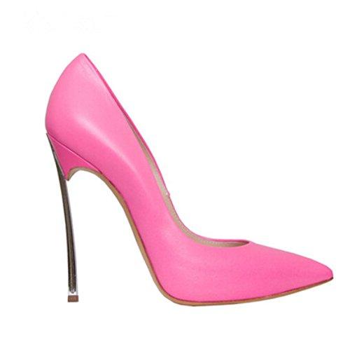 Nainen 12cm Pumput Seksikäs Ruusunpunainen Teräväkärkiset Korkokengät Stewart Naisten Kiiltonahkaa Stiletto Kengät Matta Beverly nxAqBpaRa