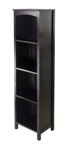 Winsome Terrace Storage Shelf, 5-Tier in Espresso Finish by Winsome