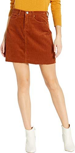 [BLANKNYC] Blank Denim Women's Corduroy Mini Skirt, Clockwork Copper, 24 - Corduroy Denim Skirt
