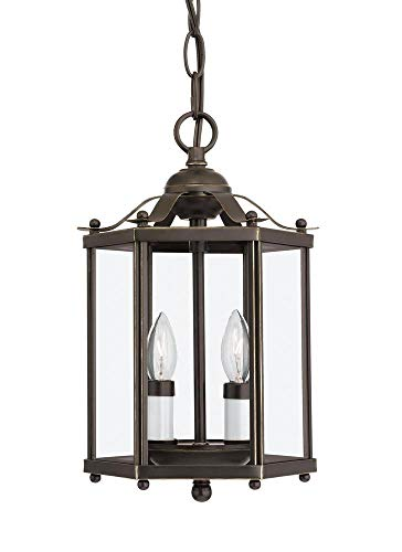 Sea Gull 5232EN-782 Bretton Semi Flush, 2-Light 7 Total Watts, Heirloom Bronze ()