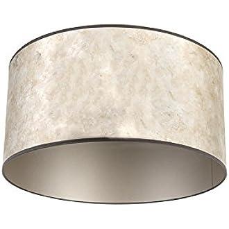 QAZQA Algodón y poliéster Pantalla plateada 50/50/25, Redonda/Cilíndrica Pantalla lámpara colgante,Pantalla lámpara de pie: Amazon.es: Iluminación