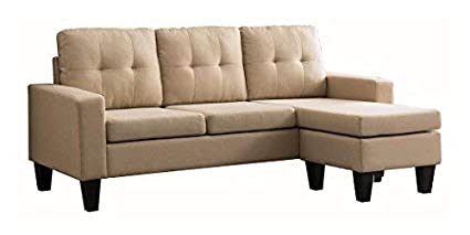 Milton Greens Stars Douglas SECTIONAL Sofa with Reversible Chaise, Light  Brown