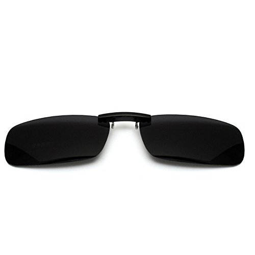 Aptoco Polarized Mirrored Lenses Classic Sunglasses Clip-On Glasses Anti-glare UV Protection for Driving Fishing and Eyewear for Men and Women (Black, Large)