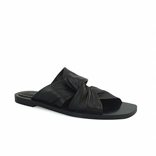 Mujer 38 Pantuflas Verano Cruzadas Negro Sandalias para y DHG de 0qHAnU