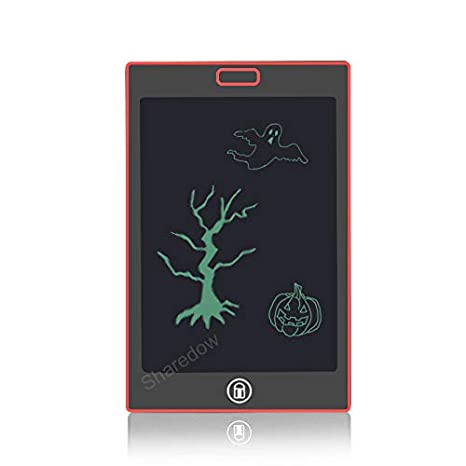 LCD Writing Tablet, ShareDow 8.5 Inch Ultra Thin Graphic Electronic Drawing Handwriting Doodle Board Pad with Screen Lock for Kids Adults Home Memo School Office (Red) RY08502