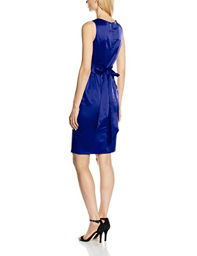 Lucy Donna Pleat royal Hot Blue Blu Vestito Squash Waisted B7XHH5x