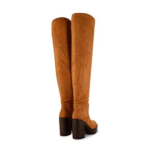 para Marrón Botas Sensation Footwear mujer canela xIZE0Sxnwq