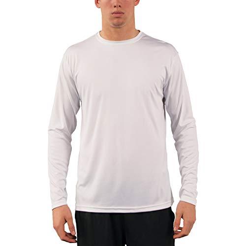 Vapor Apparel Men's UPF 50+ UV Sun Protection Performance Long Sleeve T-Shirt Medium White
