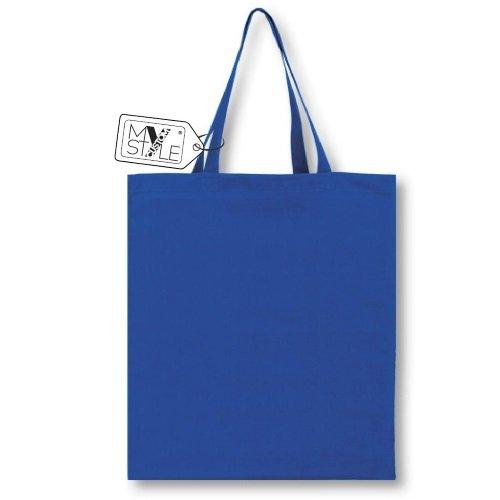My Custom Style® Shopper In Cotone Naturale Di Colore Blu Chiaro Modello Festa Del Papà sei Speciale Papàmanici Medi Da 50cm; Formato Borsa 38x42cm La Seconda Foto Si Riferisce Al