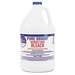 Boardwalk Pure Bright Liquid Bleach, 1 Gallon Bottle, 4/Carton (BLEACH4)