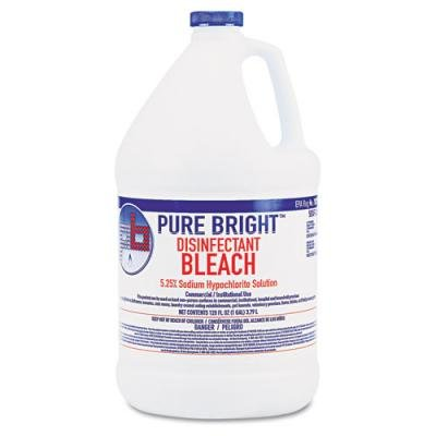 Boardwalk Pure Bright Liquid Bleach, 1 Gallon Bottle, 4/Carton (BLEACH4) by Boardwalk