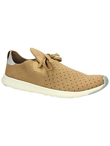 Native unisex Apollo Moc Mode Sneaker. Mandel Beige / Pigeon Grey / Knochen Weiß / Pigeon Rubber