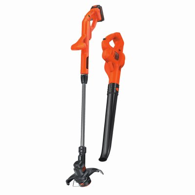 Black & Decker 20V MAX Lithium String Trimmer/Edger Plus Sweeper Combo Kit, 10'