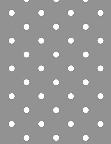40 x 55-inch Rectangle Tablecloth | Polka Dots Silver/Grey Vinyl Dining Table Cover (Seats 2-4 People) (Cover Winter Table)