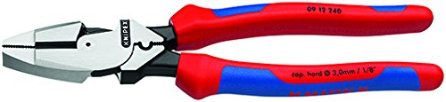 Knipex 09 12 240 SBA 9.5-Inch Ultra-High Leverage Lineman's Pliers with Fish Tape Puller and Crimper by KNIPEX Tools