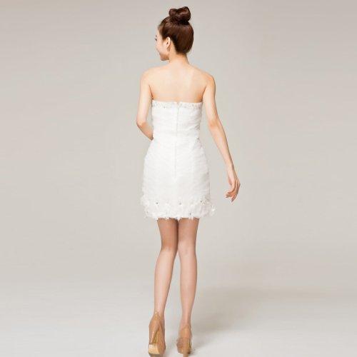 Ausschnitt Kristall Linie Herz Etui Kleidungen Brautkleider Damen Blumen Drapiert Elfenbein Mini Dearta Mit Reissverschluss Kurz CXqw1Tn