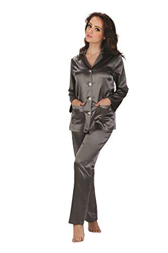 UE ed Grigio di Classico FOREX elegante pigiama made in raso 8wxFqAH