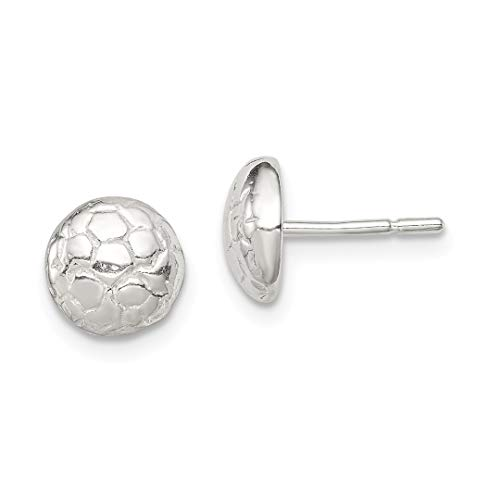925 Sterling Silver Soccer Ball Mini Post Stud Earrings Button Sport Fine Jewelry Gifts For Women For Her