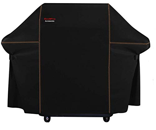 BroilPro Accessories BPA8 Heavy Duty Grill Cover for Weber Genesis E and S series Gas Grills Including Basting Brush and Tongs(Compared to the Weber 7107 Grill Cover)