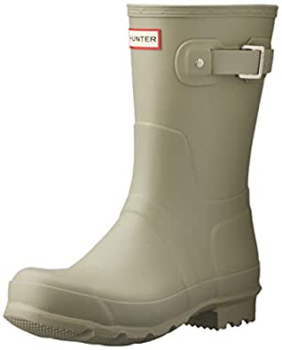 HUNTER Original Short Men's Boots, Sea Grass, 10 US