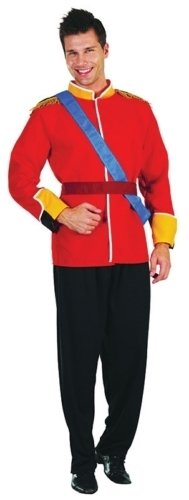 Prince William Fancy Dress Costume (Prince William Wedding Uniform Male Fancy Dress Costume - One Size)