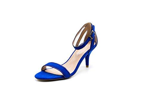 Dolce Nome Womens Natasha Heeled Sandal Blue 37
