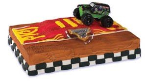 Monster Jam Grave Digger Truck Cake Topper by Cake Decorating