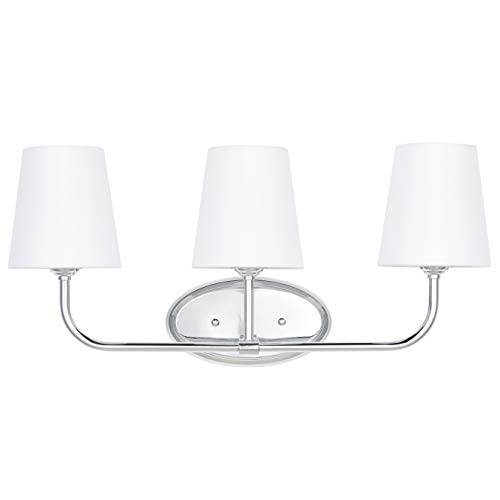 Three Light Sconce 3 Bulb - Filamia 3 Light Bathroom Vanity Light | Chrome Hallway Wall Sconce with LED Bulbs LL-WL215-2PC