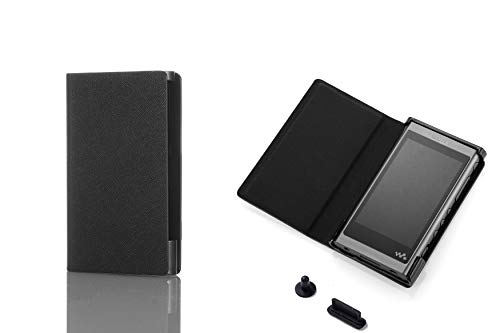 Flip Full Protective PU Leather Case Cover for Sony Walkman NW A50 A55 A56 A57 (Black)