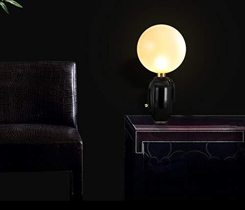 JINSH Home Art und Weisetabellenlampe der der der modernen modernen modernen Art minimalistische Schlafzimmerschlafzimmer-Wohnzimmerglasball dekorative Nachttischlampe B07JPM6SNM | Stabile Qualität  41a014